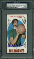 Kareem Abdul-Jabbar Signed 1969-70 Topps #25 Lew Alcindor RC (PSA Encapsulated) at PristineAuction.com