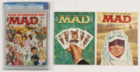 """Lot of (3) Vintage """"Mad"""" Magazines with (1) 1962 Issue #69, (1) 1964 Issue #86 , & (1) 1957 Issue #35 (CGC 8) at PristineAuction.com"""