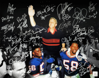 New York Giants Super Bowl XXV 16x20 Photo Team-Signed by (29) with Phil Simms, Lawrence Taylor, Jeff Hostetler, Carl Banks (Schwartz COA) at PristineAuction.com