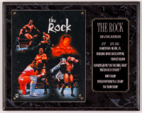 "Dwayne ""The Rock"" Johnson 12x15 Photo Plaque Display at PristineAuction.com"