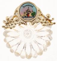 Vintage 1960's Disneyland Souvenir Glass Dish at PristineAuction.com