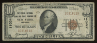 1929 $10 Ten Dollar U.S. National Currency Brown Seal Bank Note at PristineAuction.com