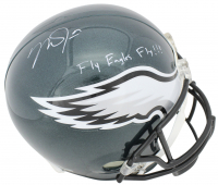 "Mike Trout Signed Eagles Full-Size Helmet Inscribed ""Fly Eagles Fly!!!"" (MLB Hologram) at PristineAuction.com"
