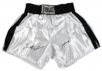 Muhammad Ali & Leon Spinks Signed Everlast Boxing Trunks (Beckett LOA) at PristineAuction.com