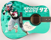 Reggie White Signed Eagles Huntington Acoustic Guitar with Inscription (PSA Hologram) at PristineAuction.com
