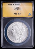 1886 Morgan Silver Dollar, VAM-6A (ANACS MS63) at PristineAuction.com