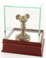 Vintage 1960's Brass Disneyland Mickey Mouse Figurine with High Quality Display Case at PristineAuction.com