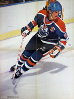 Wayne Gretzky Signed Oilers 16x21 Poster (PSA COA) at PristineAuction.com