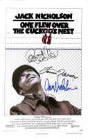 "Jack Nicholson, Louise Fletcher & Danny DeVito Signed ""One Flew Over the Cuckoo's Nest"" 11x17 Poster (PSA LOA) at PristineAuction.com"