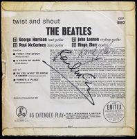 "Paul McCartney & Ringo Starr Signed The Beatles ""Twist And Shout "" EP Vinyl Record Album Cover (PSA LOA) at PristineAuction.com"