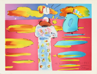 "Peter Max Signed ""Warm Regards, 1981"" 21.5x28 Print (Beckett COA) at PristineAuction.com"