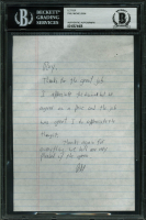 Phil Mickelson Hand-Written Letter (BAS Encapsulated) at PristineAuction.com
