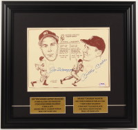 Mickey Mantle & Joe DiMaggio Signed LE Yankees 16.5x17.5 Custom Framed Bill Gallo Hand-Numbered Art Lithograph Display (PSA LOA) at PristineAuction.com