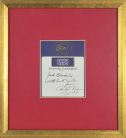 "Richard Nixon Signed ""The Memoirs of Nixon"" 7.5x8 Custom Framed Bookplate Display Inscribed ""With Best Wishes"" & ""1 - 26 - 79"" (Beckett COA) at PristineAuction.com"