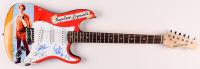 """Jon Heder & Efren Ramirez Signed """"Napoleon Dynamite"""" 39.5"""" Electric Guitar Inscribed """"Vote For Pedro"""" (PSA Hologram) at PristineAuction.com"""