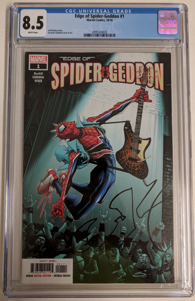 "2018 ""Edge of Spider-Geddon"" Issue #1 Marvel Comic Book (CGC 8.5) at PristineAuction.com"