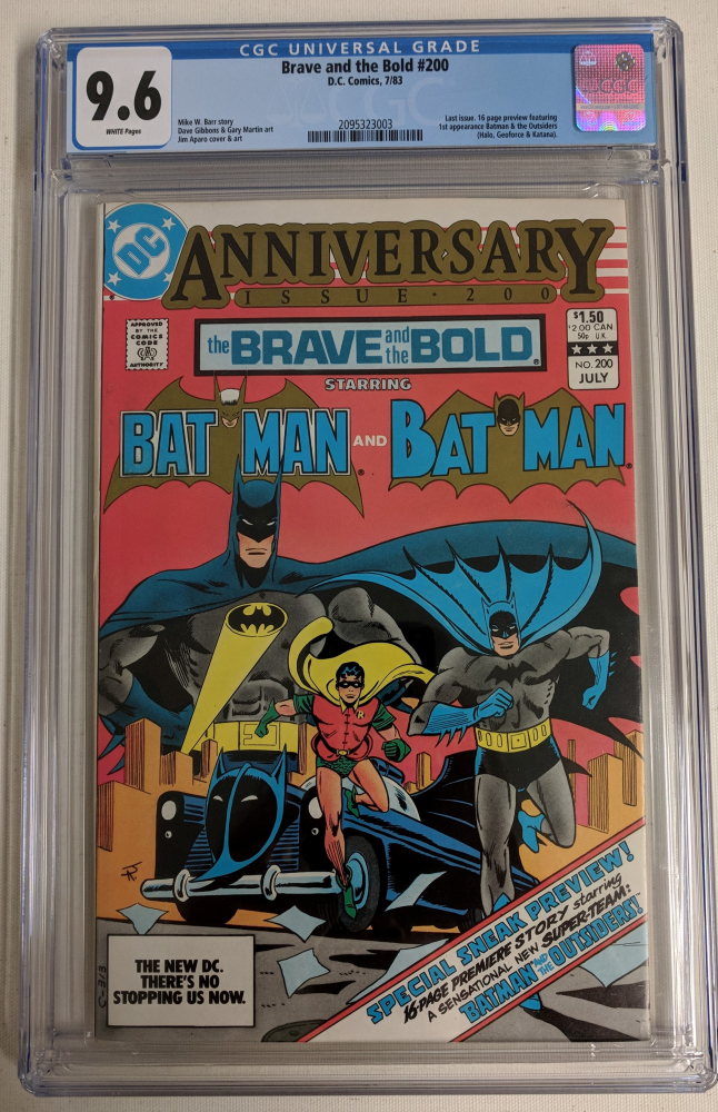 "1983 ""The Brave and the Bold"" Issue #200 DC Comic Book (CGC 9.6) at PristineAuction.com"