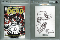"Robert Kirkman & Charlie Adlard Signed ""The Walking Dead"" Issue #85 Variant Comic Book (BAS Encapsulated) at PristineAuction.com"