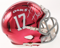 "Tua Tagovailoa Signed Alabama Crimson Tide Chrome Speed Mini Helmet Inscribed ""18 Nat'l Champs"" (Beckett COA) at PristineAuction.com"