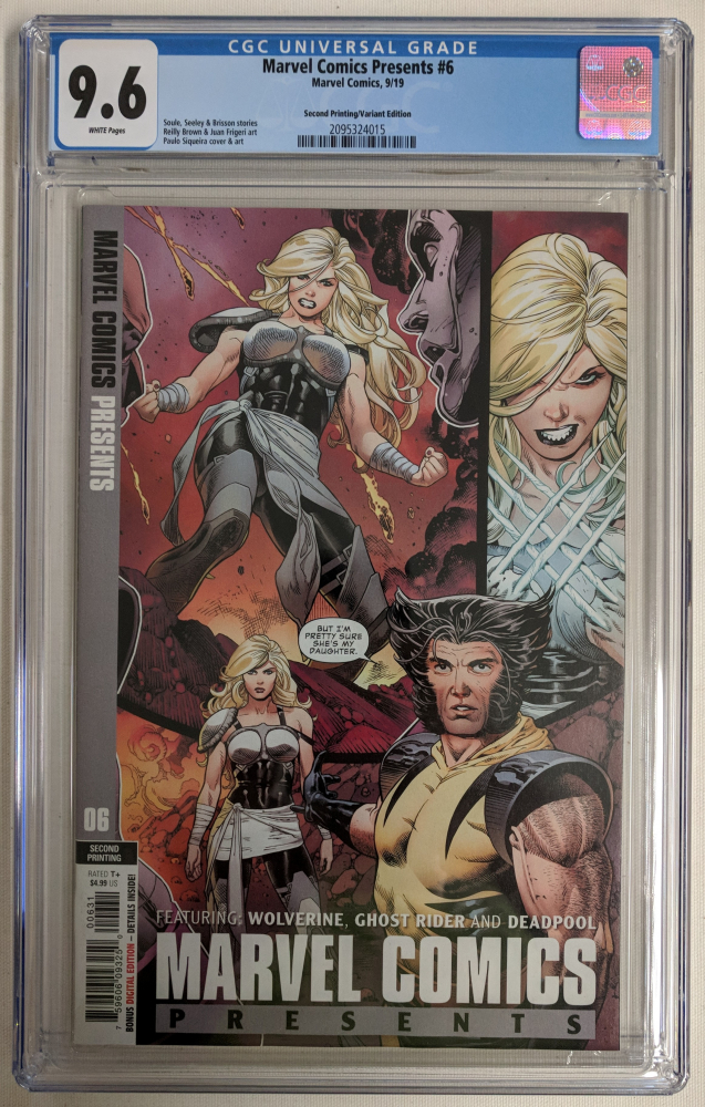 """2019 """"Marvel Comics Presents"""" Issue #6 2nd Printing Paulo Siqueira 1:25 Variant Marvel Comic Book (CGC 9.6) at PristineAuction.com"""