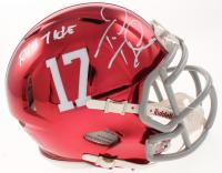 """Tua Tagovailoa Signed Alabama Crimson Tide Chrome Speed Mini Helmet Inscribed """"Roll Tide"""" (Beckett COA) at PristineAuction.com"""