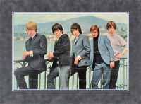 The Rolling Stones 13x20 Custom Matted Poster Display Signed by (5) With Mick Jagger, Keith Richards, Brian Jones, Billy Wyman (Beckett LOA) at PristineAuction.com