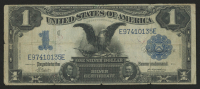 "1899 $1 One Dollar ""Black Eagle"" U.S. Silver Certificate Large Size Blue Seal Bank Note at PristineAuction.com"