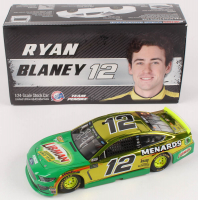 Ryan Blaney Signed #12 Menards Libman Autographed Color Chrome 2019 Mustang 1:24 Scale Die Cast Car (RCCA COA) at PristineAuction.com
