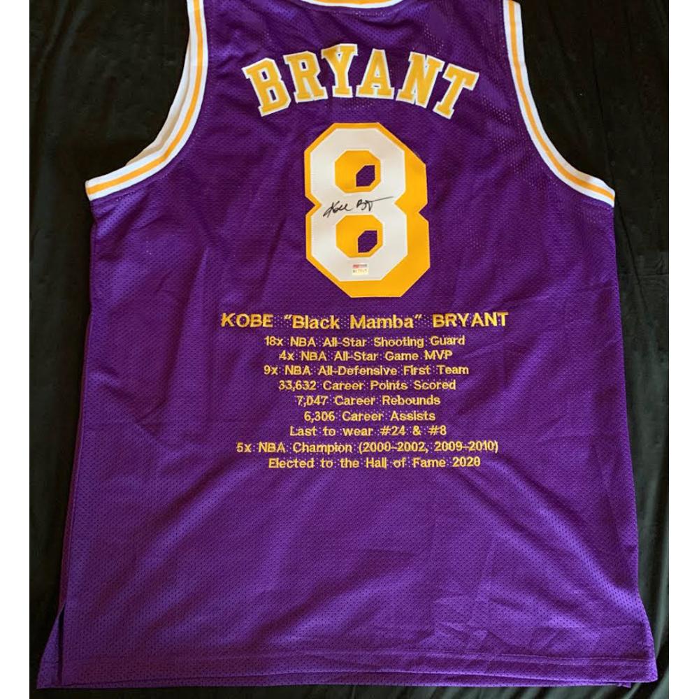Kobe Bryant Signed Career Highlight Stat Jersey (PSA Hologram ...