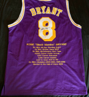 Kobe Bryant Signed Career Highlight Stat Jersey (PSA Hologram) at PristineAuction.com