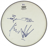 "Soundgarden 13"" Drumhead Signed by (4) With Chris Cornell, Kim Thayill, Ben Shephard & Matt Cameron (Beckett LOA) at PristineAuction.com"