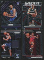 Lot of (4) 2018-19 Panini Prizm Basketball Cards with #80 Wendell Carter Jr. RC, Emergent #2 Marvin Bagley III, Sensational Swatches Prime #19 Brandon Clarke, & Emergent #5 Tyler Herro at PristineAuction.com
