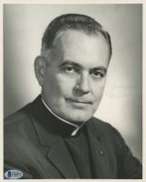 Father Theodore Hesburgh Signed 8x10 Photo (Beckett COA) at PristineAuction.com