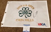 Brooks Koepka Signed 2017 Erin Hill U.S. Open Pin Flag (Beckett COA) at PristineAuction.com