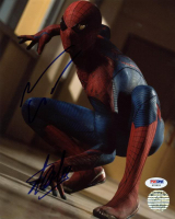 "Stan Lee & Andrew Garfield Signed ""Spider-Man"" 8x10 Photo (PSA Hologram & Lee Hologram) at PristineAuction.com"