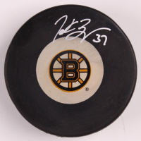 Patrice Bergeron Signed Bruins Logo Puck (Bergeron COA) at PristineAuction.com