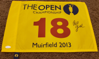 Phil Mickelson Signed 2013 The Open Championship Pin Flag (JSA LOA) at PristineAuction.com