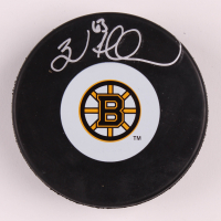 Brad Marchand Signed Bruins Logo Hockey Puck (Marchand COA) at PristineAuction.com