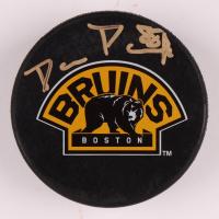 David Pastrnak Signed Bruins Logo Hockey Puck (Pastrnak COA) at PristineAuction.com