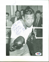 "Sugar Ray Robinson Signed 8x10 Photo Inscribed ""Best Wishes"" (PSA LOA) at PristineAuction.com"