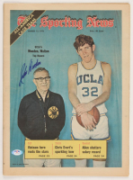 """John Wooden Signed UCLA Bruins Vintage 1973 """"The Sporting News"""" Full Issue Newspaper (PSA COA) at PristineAuction.com"""