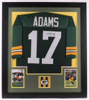 Davante Adams Signed 31x35 Custom Framed Jersey (JSA COA) at PristineAuction.com