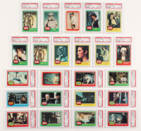 Lot of (23) PSA Graded 1977 Star Wars Trading Cards at PristineAuction.com