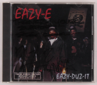 "Eazy-E Signed ""Eazy-Duz-It"" CD Case Inscribed ""Thanks 4 Your Support"", ""Stay Cool"", & ""NWA"" (Beckett LOA) at PristineAuction.com"