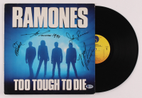 "Ramones ""Too Tough To Die"" Vinyl Record Album Band -Signed by (4) with Joey Ramone, Marky Ramone, C.J. Ramone, & Johnny Ramone (Beckett LOA) at PristineAuction.com"