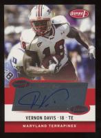 Vernon Davis 2006 Aspire Autographs #6A at PristineAuction.com