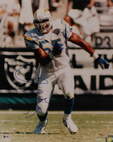 Junior Seau Signed Chargers 16 Photo (Beckett COA) at PristineAuction.com