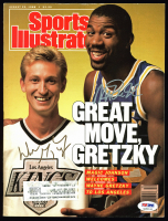 Magic Johnson & Wayne Gretzky Signed 1988 Sports Illustrated Magazine (PSA LOA) at PristineAuction.com