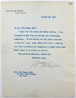 William Howard Taft Signed 1910 The White House 6.75x8.75 Typed Letter (Beckett LOA) at PristineAuction.com