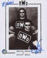 Scott Hall & Kevin Nash Signed WWE 8x10 Photo (Pro Player Hologram) at PristineAuction.com